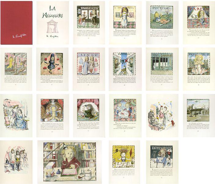 La Mesangere by Fujita Tsuguharu (Leonard Foujita) / 挿絵本(仏)四十雀 藤田嗣治(レオナール・フジタ)