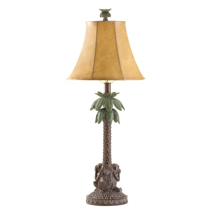 Monkeys Palm Tree Lamp, Brown mahogany (Polyresin)