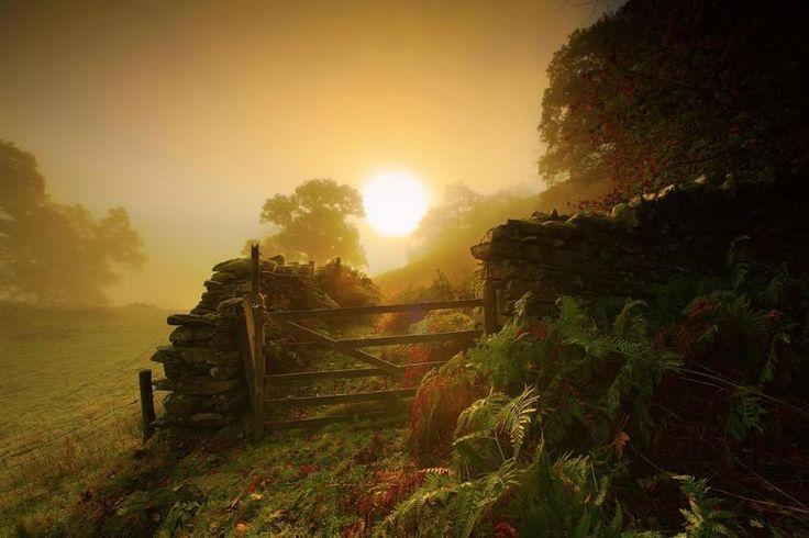 Garden wallFavorite Places, Rise Sun, Highfield British, Beautiful, Steve Highfield, Gardens Wall, Talent O'Port, British Landscapes, Landscapes Photos