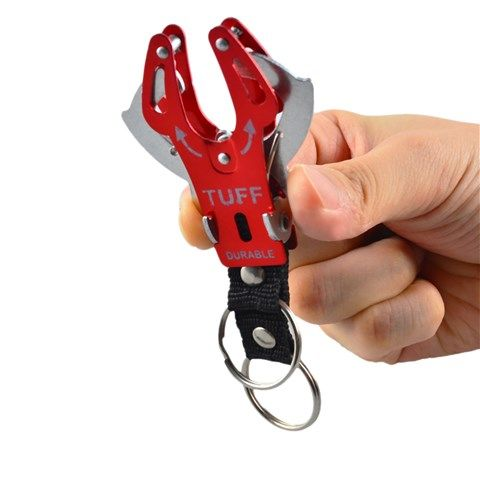 Tuff Durable Aluminium Camping Tool Keychain (Red)