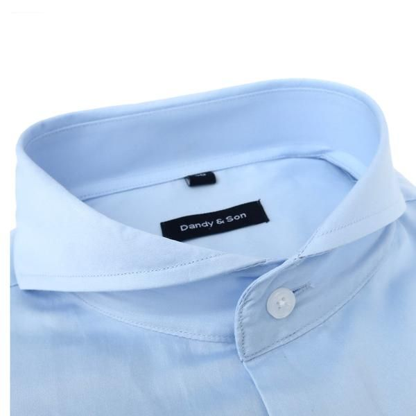 Meet the Extreme Cutaway Light Blue Shirt. This shirt with a delicate and soft light blue fabric. Extreme Cutaway Collar  Barrel Cuff, angled cut Slim fit (Dand