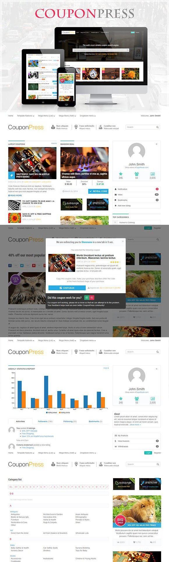 CouponPress [HTML]. HTML/CSS Themes. 14.00 Html5