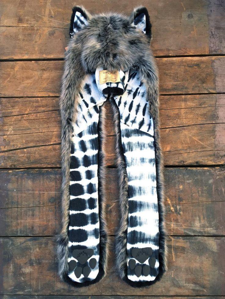 Limited Edition B&W Grey Wolf SpiritHood