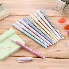 Korean Stationery Watercolor Pen Gel Pens Set 10pcs Color Kandelia AO