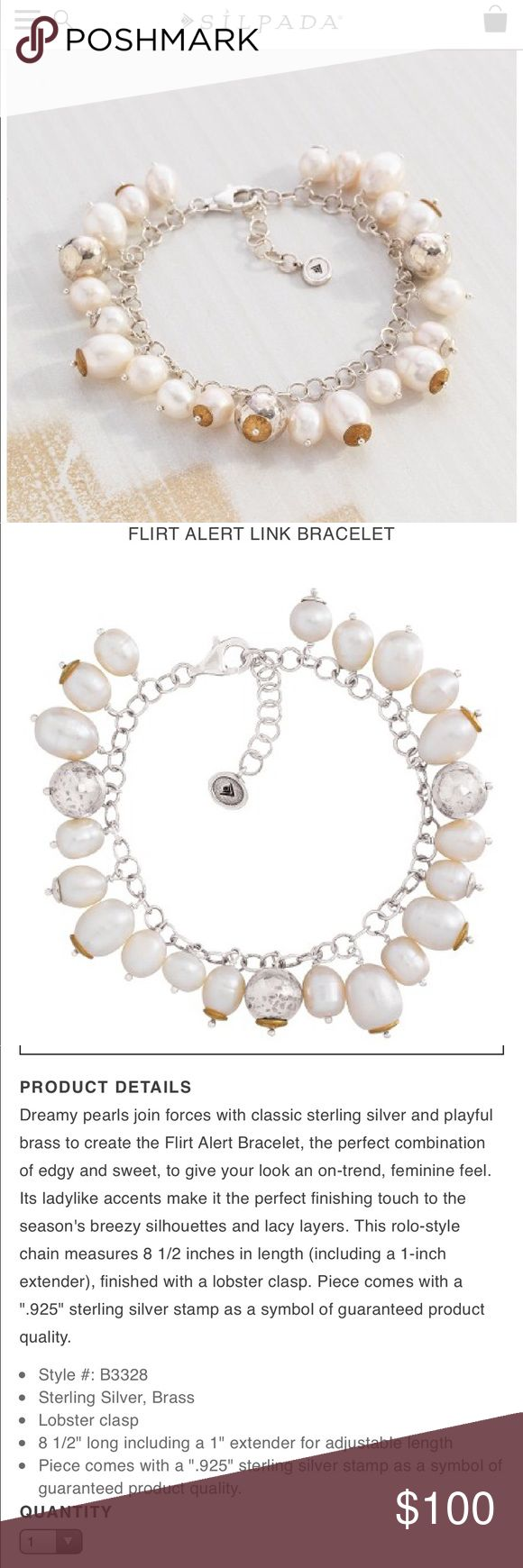 NEW (three available) B3328 FLIRT ALERT Bracelet NEW Price that will be posted is for each. There are three currently available. Sale begins in 72 hours. Quantity updated on Sunday. Preview and prepare now, quantities limited. Silpada Jewelry Bracelets