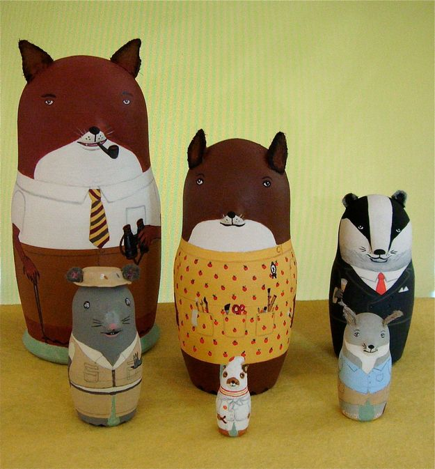 The Fantastic Mr. Fox nesting dolls