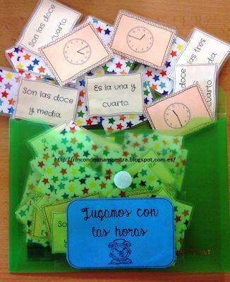 Rincón de una maestra: Jugamos con las horas