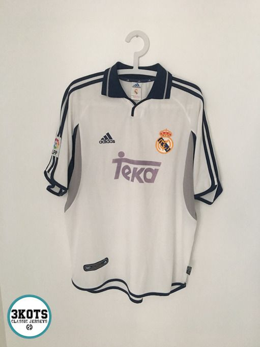 reputable site 04ddc 3fb61 REAL MADRID 2000/01 Home Football Shirt (L) Soocer Jersey ...