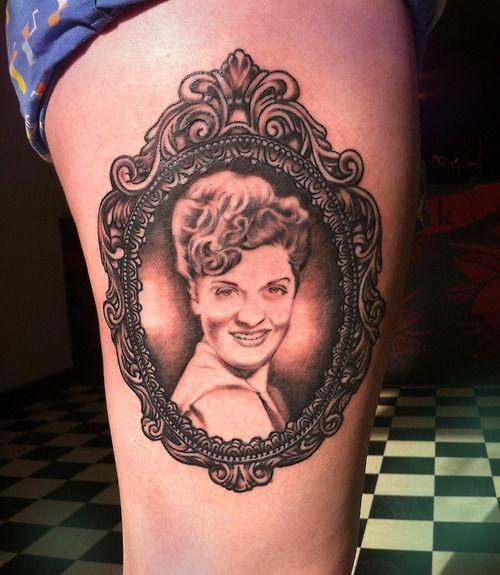vintage frame tattoo
