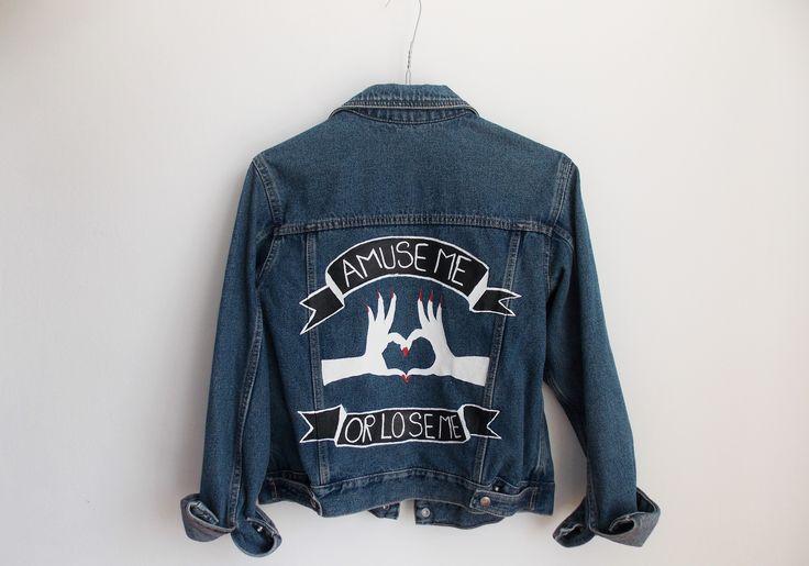 """Amuse me"" Jacket #denim#handmade#intishopromania"