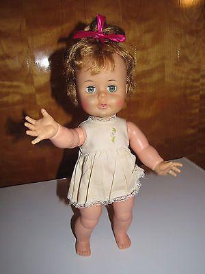 Vintage 1960's Ideal Toy Corp Kissy Kissing Doll K-16-1 in Orig. Dress & Panties