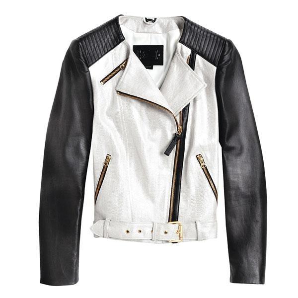 Perfecto en lin, coton et cuir, de Mackage (550 $; mackage.com).