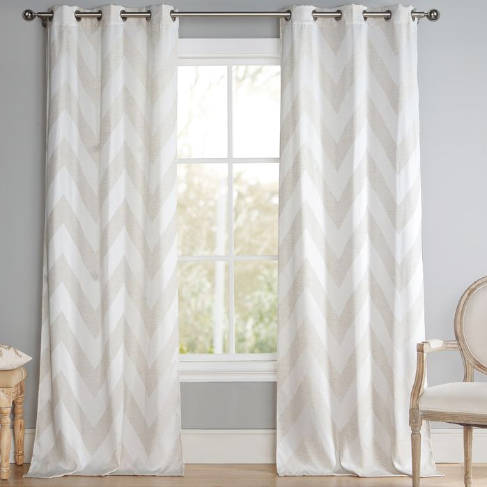 Chevron Grommet Curtain Panel