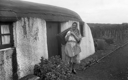 A Scottish Fish Wife and Crofters Cottage c1932