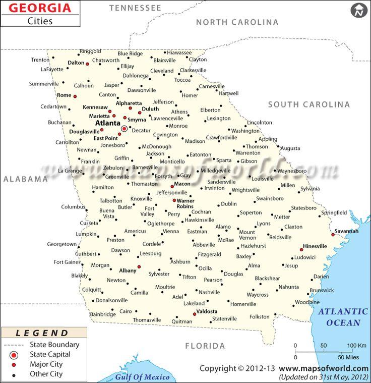 Georgia City Map Geography Pinterest Georgia City Maps And - Maps of georgia cities