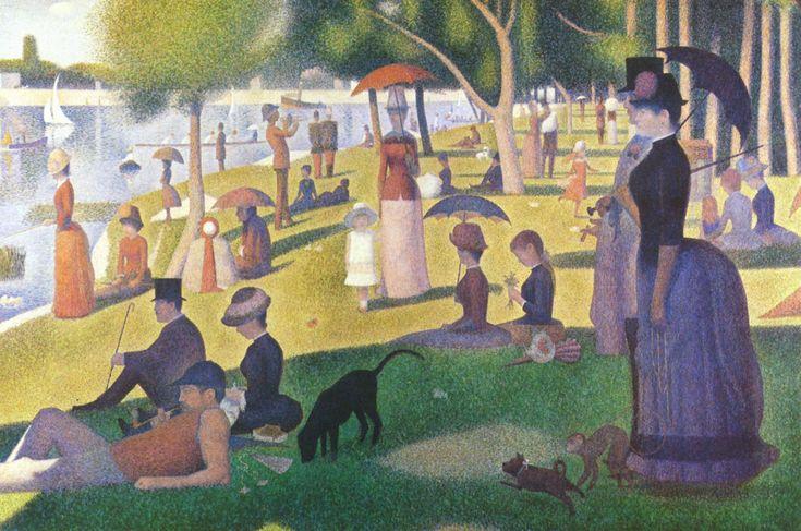 Art contemporani, Una tarde de domingen la Grande Jatte de Seurat, Postimpresionismo, Puntillismo