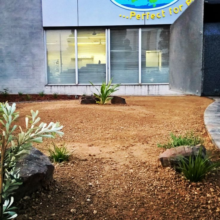 Commercial shop front by Keystone Landscapes Wagga