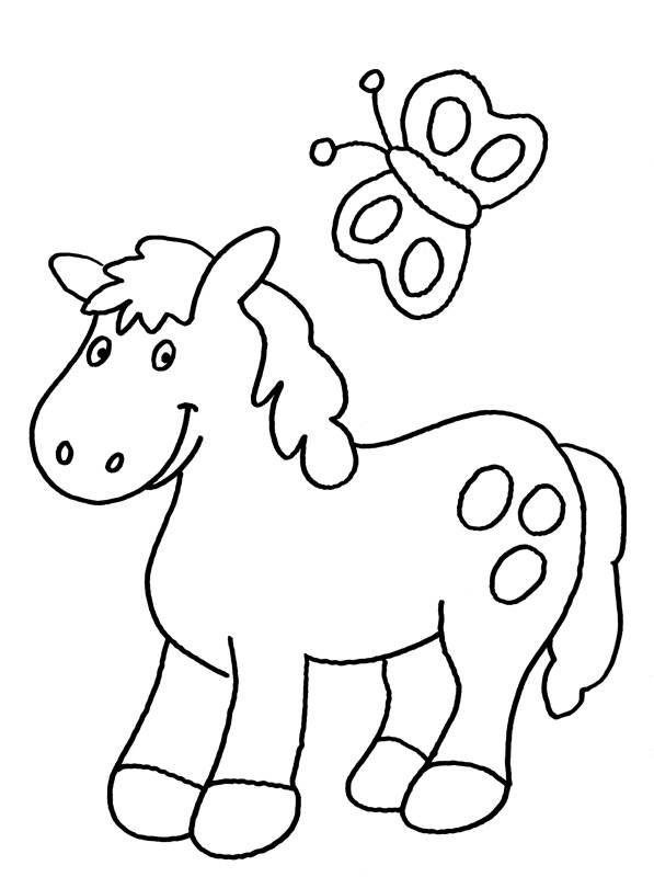 pin von karlheinz auf bastelideen  ausmalbilder pony