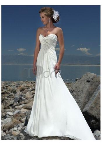 Abiti da Sposa in Pizzo-Vendita calda splendida spiaggia abiti da sposa in pizzo