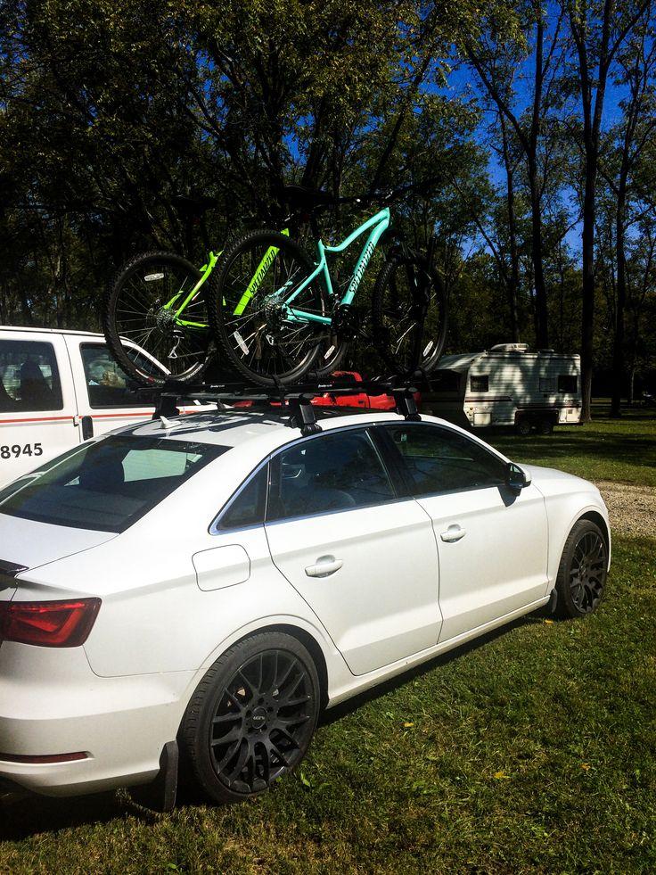 Audi A3whiteHueston Woods State Parkbikingroof racks