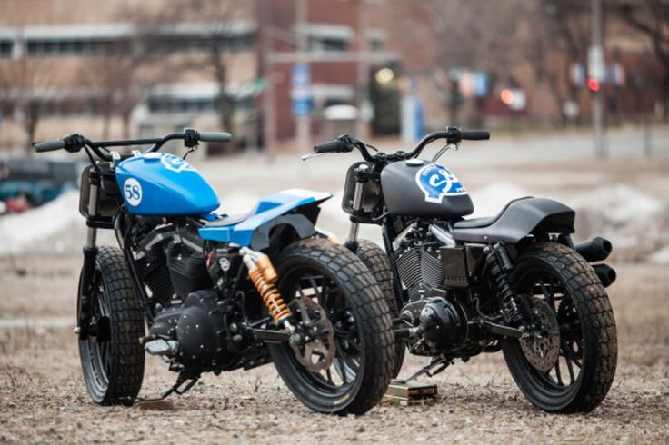 H-D Sportster flat trackers static rear view http://www.cycleworld.com/2016/02/26/hooligan-racing-on-s-s-cycle-new-harley-davidson-sportster-cycle-world-feature#page-4