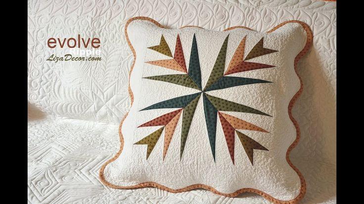 Patchwork - Šablona Evolve LizaDecor.com  #patchwork #vzory #video #tutorial #quilt #šablona #template #pravítko #pattern #lizadecor