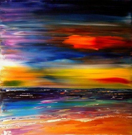 Summer Madness, 50 x 50cm oil on canvas by Daria Zaseda
