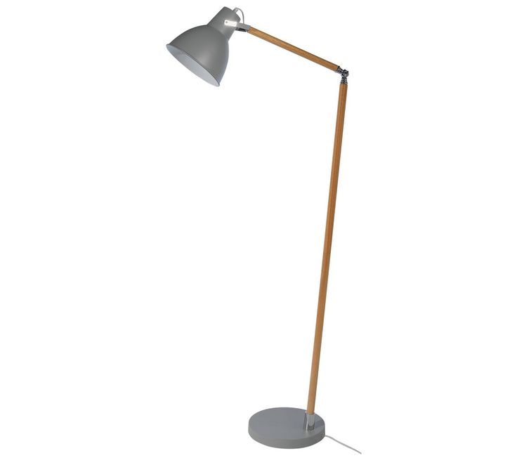 Buy Collection Twyford Wood Amp Metal Floor Lamp Grey At