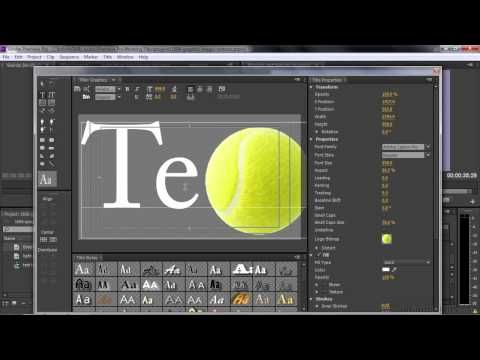Adobe Premiere Pro CC Tutorial | Adding Graphics, Images, And Textures To Titles - YouTube
