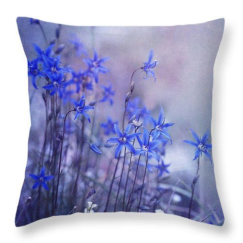"bluebell heaven Throw Pillow 14"" x 14"" - @priskawettstein - on Fine Art America"