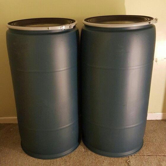 $55.90 each. In-Store & Storage Retail Price. 77 gallon open top plastic barrels for Sale in #Atlanta GA. To order, call 770-864-4871