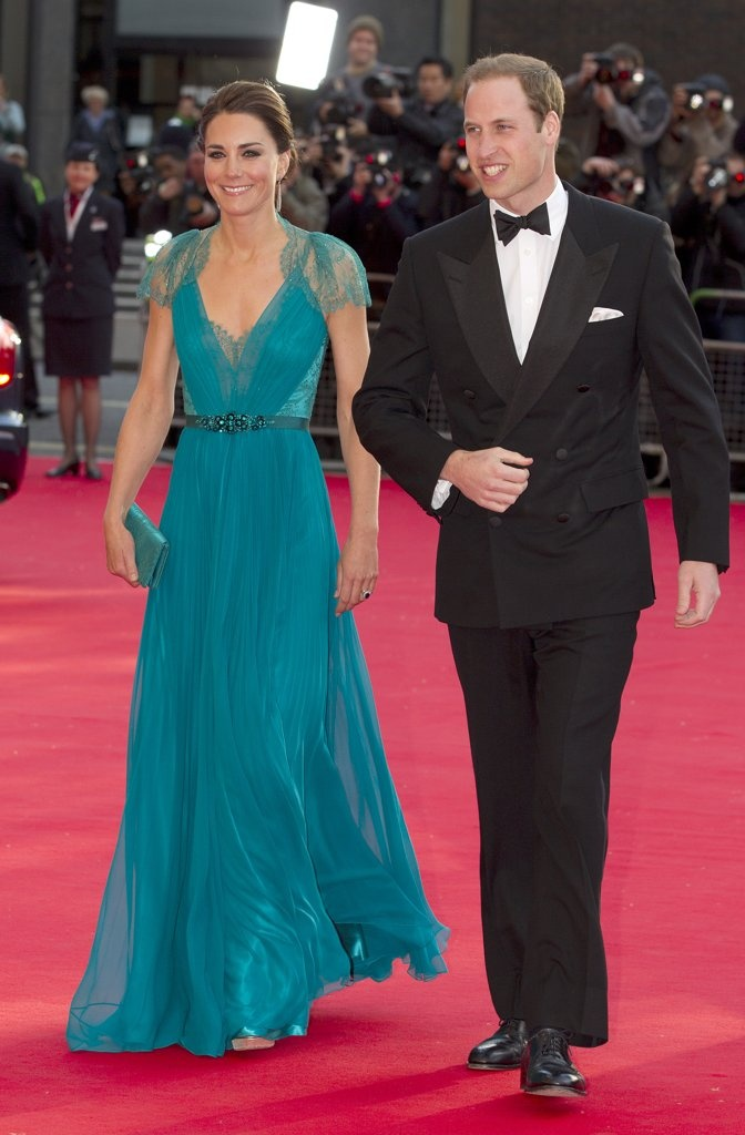 .Prince William and Kate, Duchess of Cambridge at the Royal Albert Hall for a British Olympic Team GB gala event in London, Friday, May 11, 2012. (AP Photo/Alastair Grant, Pool)
