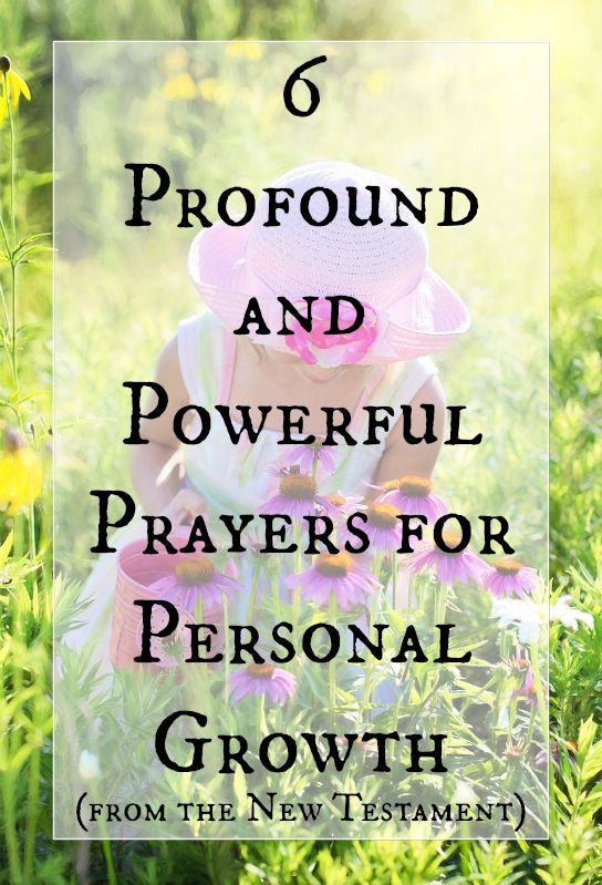 Biblical Prayers for Personal Growth #personalgrowth