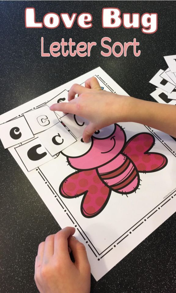 Kids will love working on letter recognition as they sort letters with this engaging Valentine's love bug themed letter sorting activity!