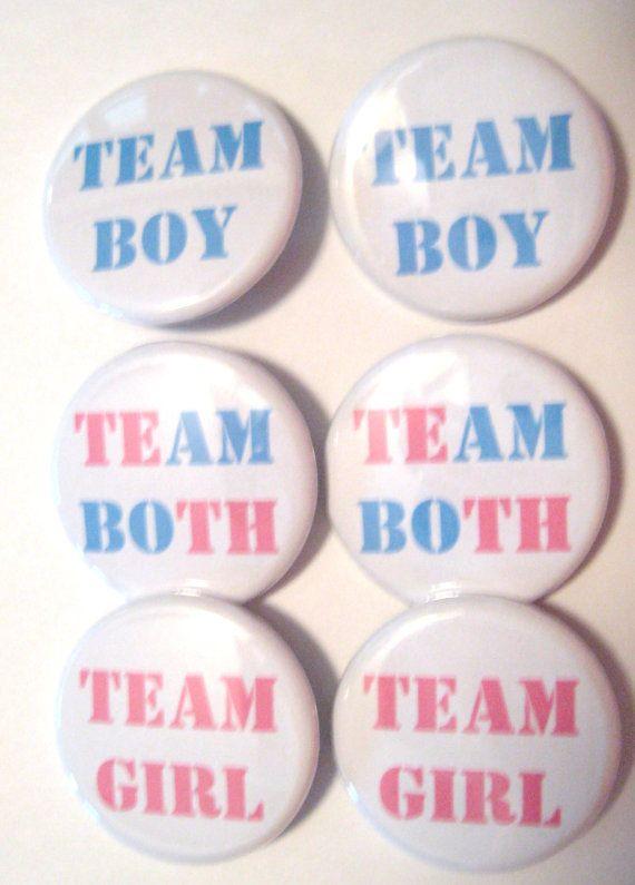 Twins Gender Reveal Party Team Boy Team Girl by PutOnYourPartyCap