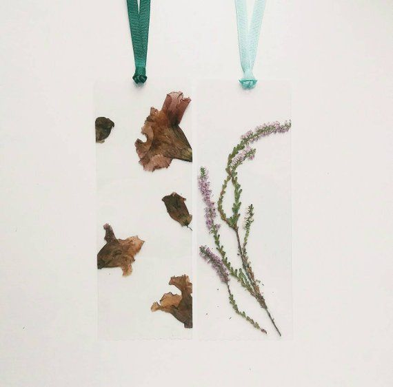 Set Of 3 Piece Pressed Flowers Bookmark Dried Flower Real Flower Book Mark Botanical Bookmark Laminated Bookmark Floral Art Book Accessory Gift For Reader The