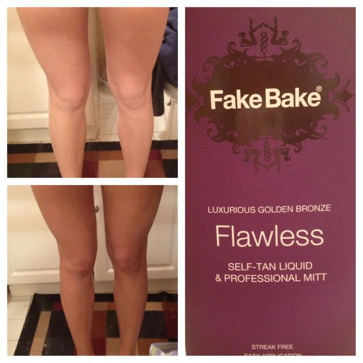 Fake Bake Flawless, love this stuff! Easy to applicate, smells great, looks natural, no residue left on clothes or sheets, and one bottle lasts for several applications!