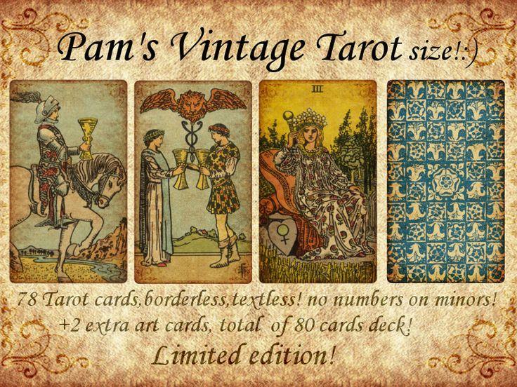 Pams vintage tarot size in 2020 vintage tarot card art