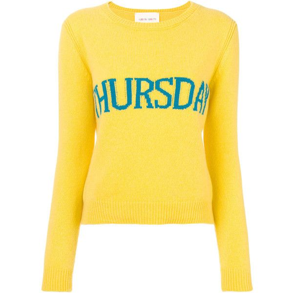 Alberta Ferretti Thursday jumper (£375) ❤ liked on Polyvore featuring tops, sweaters, yellow, alberta ferretti, jumpers sweaters, yellow top, jumper top and yellow jumper