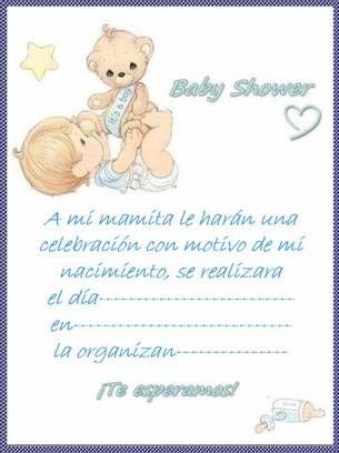 Invitaciones De Texto Invitacion Baby Shower Para