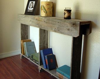 skinny console table small entry table country by - Skinny Console Table