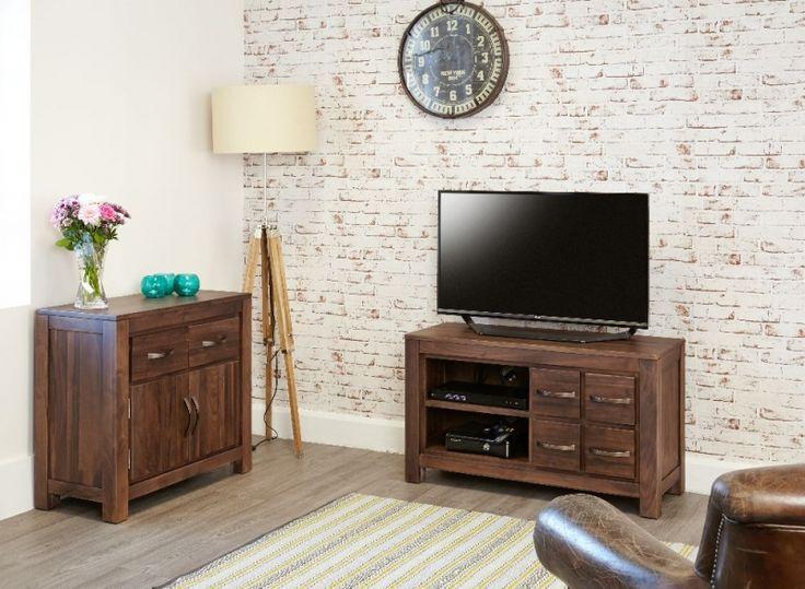 buy baumhaus mayan walnut television cabinet 4 drawer online by baumhaus furniture from cfs uk at unbeatable price