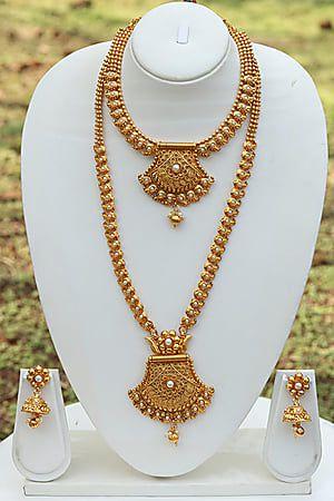 c4ca01850 Craftsvilla Unique Design White Necklace Set