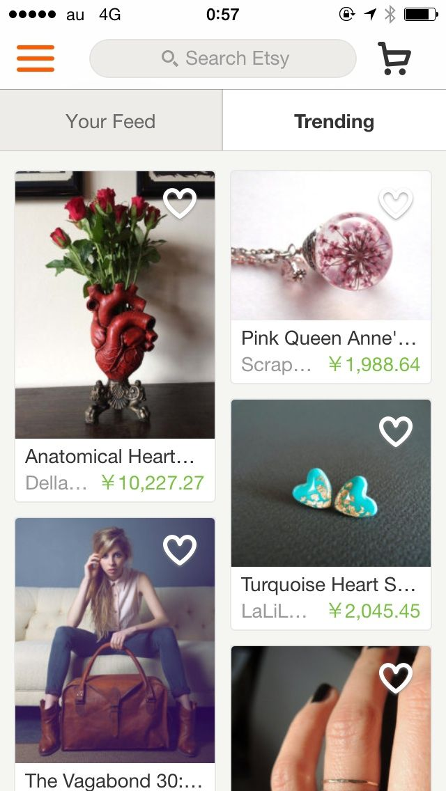 UI Inspexing - Etsy - Home