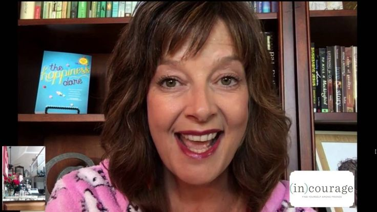 """Enjoy this exclusive """"Happiness Dare"""" (in)courage book club video featuring Jennifer Dukes Lee & Anita Renfroe! #thehappinessdare"""