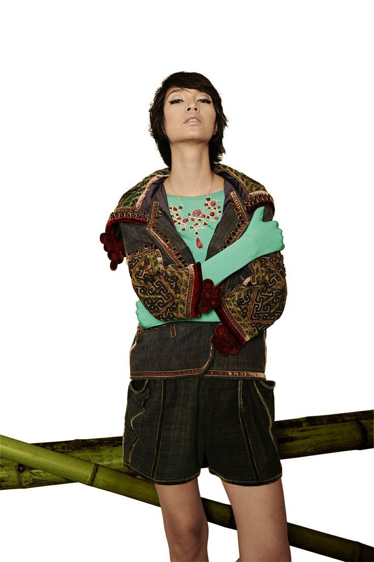 Minh Hanh. Vietnamese Fashion Designer. Italy & Vietnam 2011. Photo: Bui Viet Anh. Model: Thuy Huong