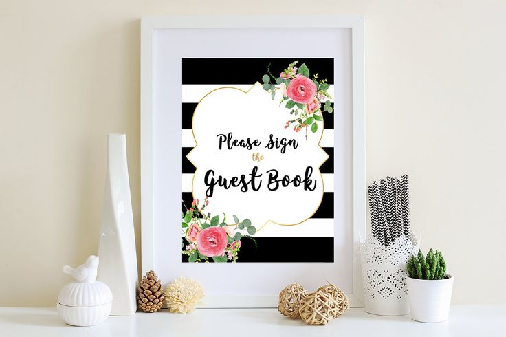 Wedding Guest Book Sign/ Table sign/ printable/ Wedding Signs/ Bridal shower decor/ Wedding favors/ Guest book ideas/ Wedding Decor/ Prints by VCDEVENTS on Etsy