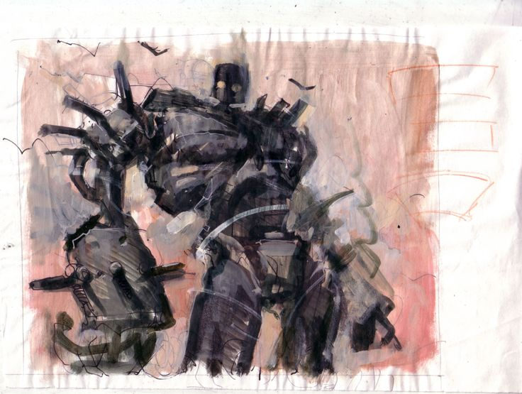Magic Art of the Day: Darksteel Colossus Prelim by Carl Critchlow - Here's the owner's gallery