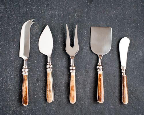 But if you are shopping for cheese knives, here's a quick primer on the most common and often used.  The long knife with the forked tip is g...