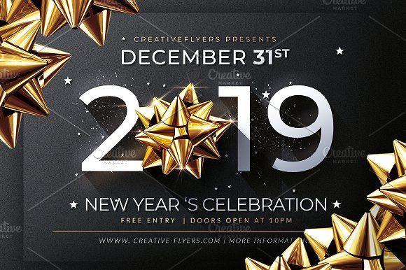 New Year Invitation Template Invitation Template Creative Flyers Graduation Invitations Template